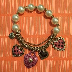 Betsey Johnson Hearts Bracelet